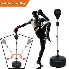 Boxing Mma Free Standing Punch Ball Adjustable Punching Trainer Bag Speedball