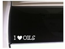"I Love Oils Car Decal Vinyl Sticker 6"" L62 Essential Herbs Natural Heart Gift"