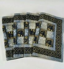 Kudhinda African Elephant Placemats Made in Zimbabwe Set of 4