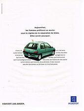 PUBLICITE ADVERTISING 045  1994  PEUGEOT 106 GREEN