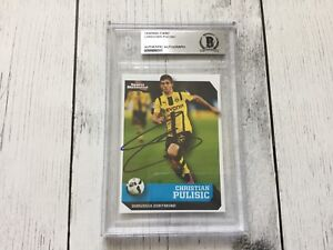 Christian Pulisic Signed SI Kids Card Beckett BAS BGS Slabbed Encapsulated c