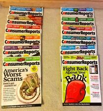 CONSUMER REPORTS-- THE COMPLETE YEAR 2012 - TWELVE (12) ISSUES - EXCELLENT COND.