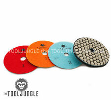 Diamond Polishing Pads 4 inch Dry 3 STEP Set Granite Stone Concrete Marble SUPER