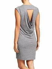 NWOT Athleta Gray Draping Open Back Linen Jersey Charisma Dress Womens M