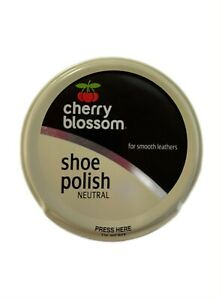 1x Cherry Blossom Shoe Polish 50ml -Traditional-Smooth Leathers - Neutral Colour