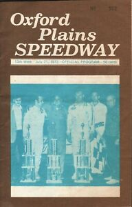 1973 Oxford Plains Speedway, Maine - 13th Week July 21, 1973 - Official Program