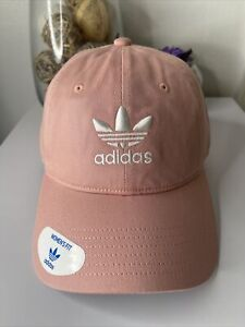 Adidas womens Original Relaxed Strapback Hat Cap Pink Spirit Adjustable Fit