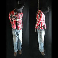 Lifesize 6' Hanging Man Scary Zombie Haunted House Halloween Life Size Prop