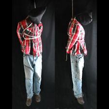 Lifesize 6' Hanging Man Scary Zombie Haunted House Halloween Life Size Prop