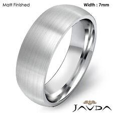 14k Gold White 7mm Men Plain Comfort Dome Wedding Band Solid Ring 9.9gram 8-8.75