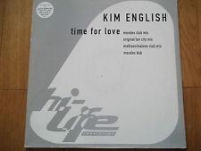 """KIM ENGLISH - TIME FOR LOVE 12"""" RECORD / VINYL - HI LIFE RECORDINGS - 12HI-8"""