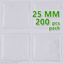 200PCS 25mm Square Transparent Epoxy Domes Resin Cabochon Sticker C1907