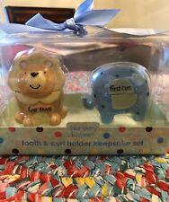 Nursery Rhyme Tooth & Curl Keepsake Set, First Tooth, First Curl Keeper Set