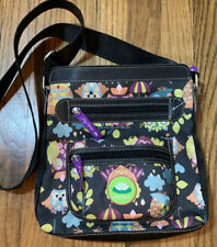 LILY BLOOM BLACK BELLA CROSS BODY WHAT A HOOT OWLS BAG MADE W/RECYCLED PLASTIC