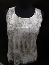 Chicos Faux Snakeskin Sequined Bling Tank Top Shirt Blouse Sz 1 - Worn Once