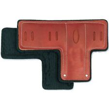 Pad Replacements For Climbing Spurs, T Pads, Premium Leather,Set of 2 Pads