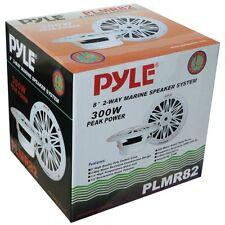 """SPEAKERS WATERPROOF 2-WAY 20 CM 8"""" PYLE PLMR82 600 WATTS MAX SWIMMING POOL BOAT"""