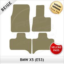 BMW X5 E53 2000-2006 Velcro Pads Tailored LUXURY 1300g Carpet Car Mats BEIGE