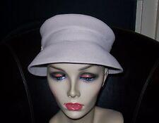 VINTAGE LADIES SANDSTONE 'A CALVERT MODEL' FELT HAT w/side buckle 52cm head cir.