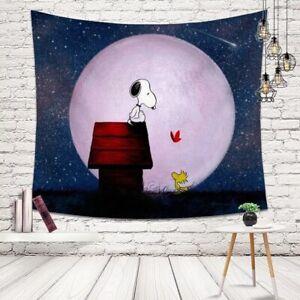 Snoopy & Woodstock / Peanuts Tuch Schal Decke Bild Umhang blau NEU & OVP