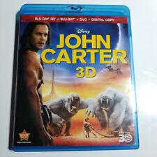 John Carter (Blu-ray/DVD, 2012, 4-Disc Set, Includes Digital Copy 3D/2D)