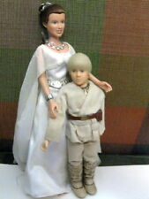 """1999 Star Wars Figure 12"""" Princess Leia Ceremonial Gown & Young Anakin Skywalker"""