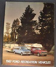 1982 Ford RV Brochure F-150 250 Pickup Truck Bronco Van Motor Home LTD Wagon 82