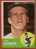 1963 Topps #20 Tony Kubek Pack Fresh Near Mint+ New York Yankees FREE SHIPPING