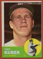 1963 Topps #20 Tony Kubek Pack Fresh Near Mint+ New York Yankees FREE SHIPPING