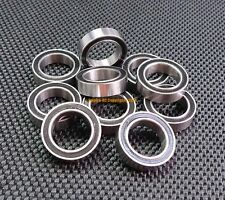 [4 PCS] 6905-2RS (25x42x9 mm) Metal Rubber Sealed Ball Bearing (Black) 6905RS