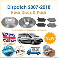 For Citroen Dispatch 2007-2018 Two Rear Solid 290MM Brake Discs & Brake Pads Set