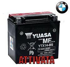 BATTERIA/ORIGINALE YUASA YTX14-BS 12V 12Ah BMW R GS 1200 2008 2009 2010 2011moto