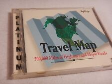 Travel Map North America For Windows Cd-Rom 1995 Softkey Int.