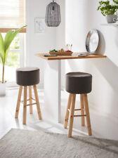 Barhocker Barstuhl Küchenhocker Schemel Holz mit Bezug  Hütten-Flair Alpen-Style