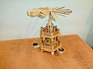 Vtg. German Erzebirge Christmas Nativity Pyramid Windmill