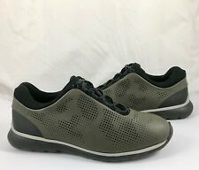 Z Zegna Men's Size 11 Sprinter 300 Leather Lace Up Low Sneakers Dark Green $425