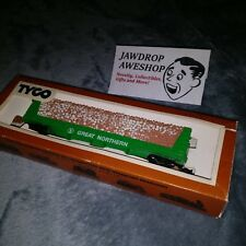 Vintage HO TYCO PULPWOOD CAR GREAT NORTHERN 334-B LUMBER CONTAINER TRAIN CAR