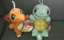 Lot of 2 Pokemon Plush Squirtle Charmander stuffed animals dolls go toy factory