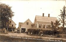 Mattocks Station ME General Store Hotel & Livery Old Car Horse RPPC Postcard
