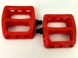 ODYSSEY BMX PC TWISTED PLASTIC  PEDALS - RED - BMX BIKE - NEXTKARTING -
