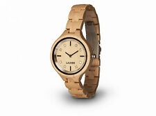 Laimer Wood Women's Watch Wristwatch Maria 0026 Made of Maple Wooden Bracelet