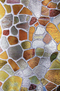 Privacy Stained Glass Decorative Window Film - Brown Vinyl Static Cling Films