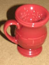 Great Longaberger pottery paprika Grandmug latte coffee tea cup /mug + strainer