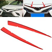 For 2018 2019 Toyota Camry SE XSE Front Center Grill Cover Trim Anti-scratch Red