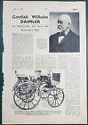 1950+Gottlieb+Wilhelm+Daimler+Biography+Car+Article+Print+Ad+2-page+The+Motor