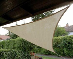 Sonnensegel 3m Dreieck Beige Sonnenschutz Windschutz Sonnen Segel Sichtschutz