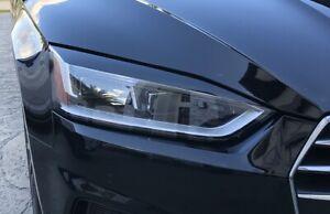 17-20 Audi A5 Sportback S5 Sportback Headlight EYELID Black