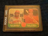 1986 Kal Daniels Paul O'Neill 646 Fleer Major League Prospect Baseball Card MLB