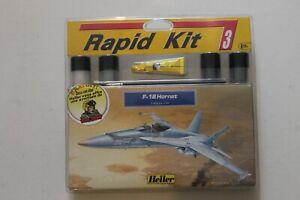 HELLER - 1/144 F-18 HORNET - RAPID KIT PEINTURES COLLE + BD BUCK DANNY