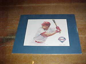 1993 Lenny Dykstra Numbered Watercolor Painting by Artist Tim Swartz Phillies